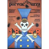 Porwać cesarza Tamas Renyi Andrzej Krajewski polski plakat