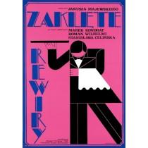 Zaklęte rewiry Janusz Majewski Andrzej Krajewski polski plakat