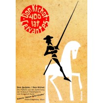 400 lat Don Kichot, Cervantes Michał Książek polski plakat