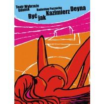 Być jak Kazimierz Deyna Michał Książek polski plakat