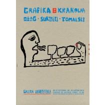 Grafika z Krakowa – Ożóg, Surzycki, Tomalski Sebastian Kubica polski plakat