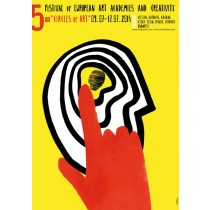 Kręgi Sztuki Sebastian Kubica polski plakat