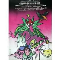 Czarodziejski las Mirosław Łakomski polski plakat