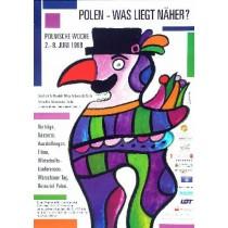Polska - Co jest bliżej? Jan Lenica polski plakat