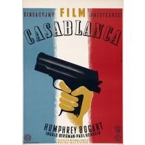 Casablanca Michael Curtiz Eryk Lipiński polski plakat