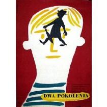 Dwa pokolenia Mario Monicelli Eryk Lipiński polski plakat
