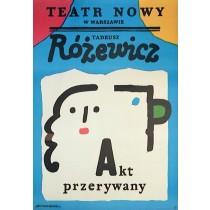 Akt przerywany Jan Młodożeniec polski plakat