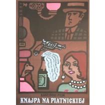 Knajpa na Piatnickiej Aleksandr Fajntsimmer Jan Młodożeniec polski plakat