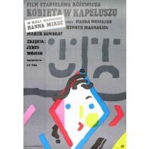Kobieta w Kapeluszu Stanisław Różewicz Jan Młodożeniec polski plakat