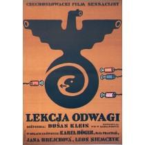 Lekcja odwagi Jan Młodożeniec polski plakat