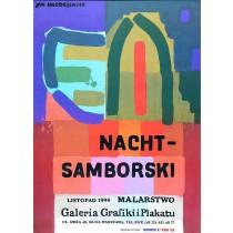 Nacht – Samborski malarstwo Jan Młodożeniec polski plakat