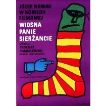Wiosna, panie sierżancie Tadeusz Chmielewski Jan Młodożeniec polski plakat