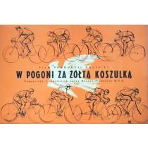 W pogoni za żółtą koszulką Jan Młodożeniec polski plakat