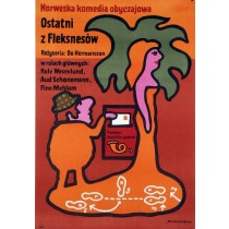 Ostatni z Fleksnesów Jan Młodożeniec polski plakat