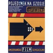 Pojedynek na szosie Jan Młodożeniec polski plakat
