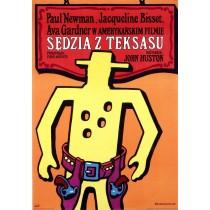 Sędzia z Texasu Jan Młodożeniec polski plakat