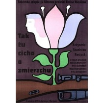 Tak tu cicho o zmierzchu Jan Młodożeniec polski plakat