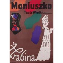 Hrabina Moniuszko Jan Młodożeniec polski plakat