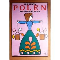 Lär känna Polen folklorensland Jan Młodożeniec polski plakat