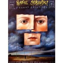 Recent Paintings NYC 1991 Rafał Olbiński polski plakat