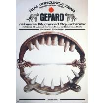 Gepard Mukhamed Soyunkhanov Marek Płoza-Doliński polski plakat