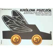 Królowa pszczół Janusz Nasfeter Elżbieta Procka polski plakat