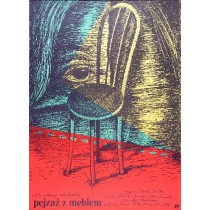 Pejzaż z meblem Karel Smyczek Elżbieta Procka polski plakat