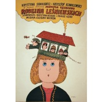 Rodzina Leśniewskich Janusz Leski Bohdan Butenko polski plakat