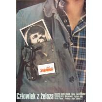 Człowiek z żelaza Andrzej Wajda Marcin Mroszczak polski plakat