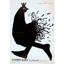 Czarna kura Viktor Gres Elżbieta Procka polski plakat