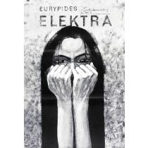 Elektra Sofokles Bolesław Polnar polski plakat
