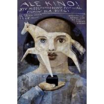 Ale Kino XIV Międzynarodowy Festiwal Filmów Młodego Widza Wiktor Sadowski polski plakat