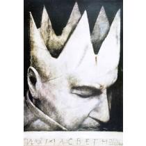 Macbeth - Verdi Wiktor Sadowski polski plakat