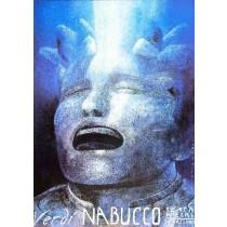 Nabucco Giuseppe Verdi Wiktor Sadowski polski plakat