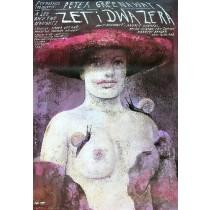 Zet i dwa zera Peter Greenaway Wiktor Sadowski polski plakat