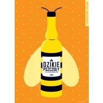 Dzikie pszczoły Bohdan Slama Joanna Górska Jerzy Skakun polski plakat