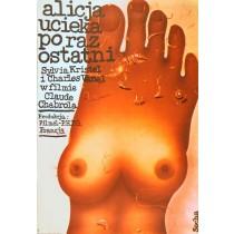 Alicja ucieka po raz ostatni Romuald Socha polski plakat