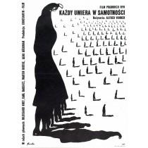 Każdy umiera w samotności Romuald Socha polski plakat
