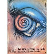Koniec sezonu na lody Romuald Socha polski plakat