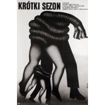 Krótki sezon Romuald Socha polski plakat