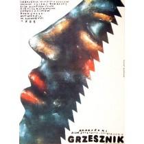 Grzesznik Vladimir Popkov Romuald Socha polski plakat