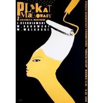 Plakat malowany z kolekcji Marzocha Monika Starowicz polski plakat
