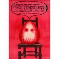 Upiór z Morrisville Borivoj Zeman Franciszek Starowieyski polski plakat