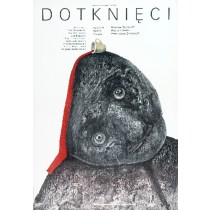 Dotknięci Wiesław Saniewski Stasys Eidrigevicius polski plakat