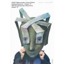 Festiwal Filmów Krótkometrażowych Stasys Eidrigevicius polski plakat