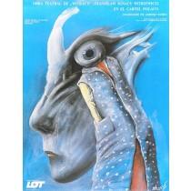 Obra teatral de Witkacy Stasys Eidrigevicius polski plakat