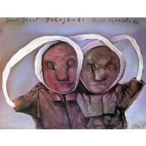 Pokojówki Stasys Eidrigevicius polski plakat