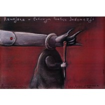 Ramajana w ludowym teatrze Indonezji Stasys Eidrigevicius polski plakat