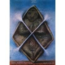 Rzeźba sakralna z Tamilnadu Stasys Eidrigevicius polski plakat