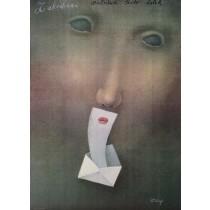 Zakochani Stasys Eidrigevicius polski plakat
